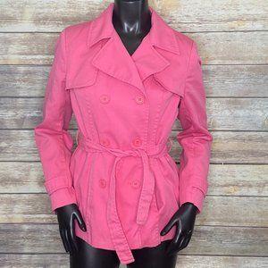 Papaya Candy Pink Trench Jacket - Size 12